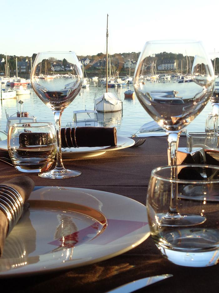 Restaurant à Perros Guirec avec vue sur mer